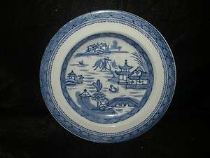 ASWORTH ENGLISH PORCELAIN STAFFORDSHIRE BLUE CANTON DEEP PLATE 9.5 D
