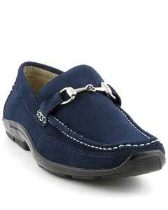 Stacy Adams Gabe Navy Blue Mens Suede Dress Shoes