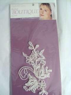 Bridal Boutique Ivory Embroidered Lace Applique   2pc 892482000834