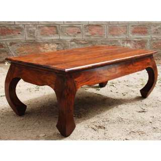 Solid Wood Casual Coffee Cocktail Sofa Table w Arched Legs NEW