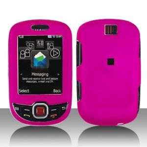 Rubber Hot Pink Hard Case Cover Samsung ) Smiley T359