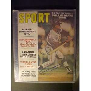 Willie Mays San Francisco Giants Autographed June 1967