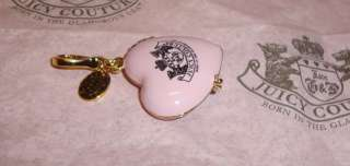 Juicy Couture Sweet Couture Heart Compact Charm 4 Bracelet Necklace