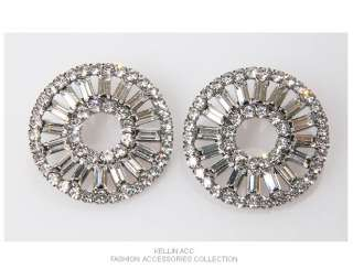 BLACK LABEL * Swarovski Crystal Circle Earrings