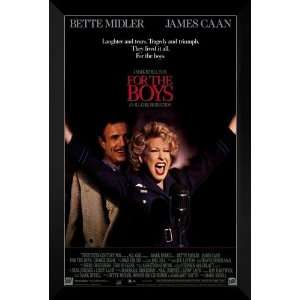For the Boys FRAMED 27x40 Movie Poster Bette Midler Home & Kitchen