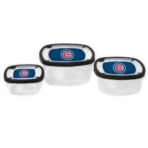 Chicago Cubs Plastic Food Storage Container 3pc Set