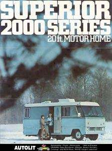 1973 Superior 2000 Series Dodge Motorhome RV Brochure