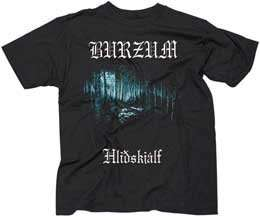 BURZUM   Hlidskjalf   Black T shirt Clothing