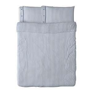IKEA NYPONROS Full Queen Duvet Cover & Pillowcases Blue White