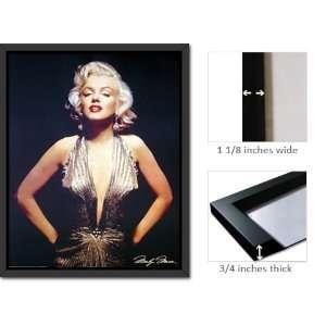 Framed Marilyn Monroe Gold Dress Classic Poster Fr16219