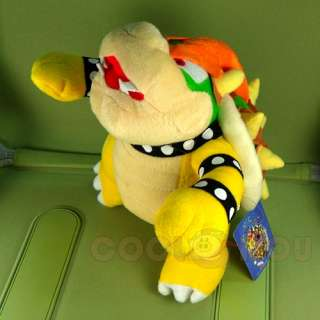 New Super Mario Bros 10 Bowser Plush Doll Figure Toy
