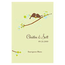Personalized Love Birds Wine Bottle Labels Wedding