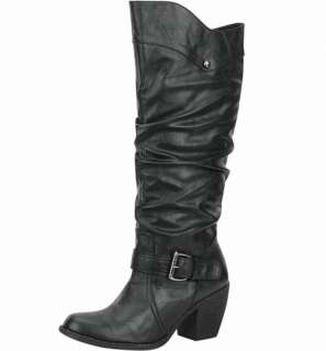 Buckles Fashion Western Cowboy Mid Knee High Boot Shoes