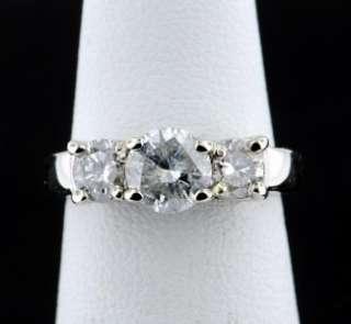 50 CARAT ROUND BRILLIANT DIAMOND 3 STONE ENGAGEMENT RING 14K WHITE