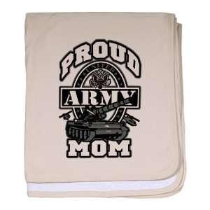 Baby Blanket Petal Pink Proud Army Mom Tank