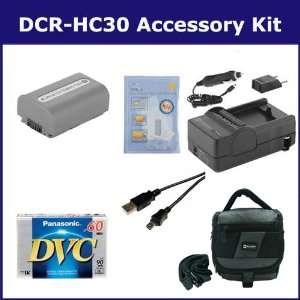 Sony DCR HC30 Camcorder Accessory Kit includes DVTAPE Tape/ Media
