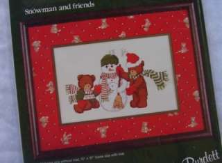 Dale Burdett Counted Cross Stitch Kit Snowman and Friends Christmas