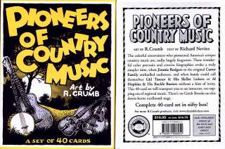 Crumbs Pioneers of Country Music Trading Cards Set