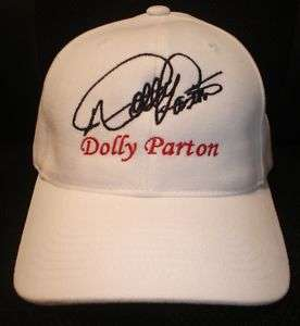 DOLLY PARTON CAP / HAT WITH STITCHED AUTOGRAPH