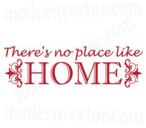 No Place Like Home Livingroom Vinyl Wall Quote Decal