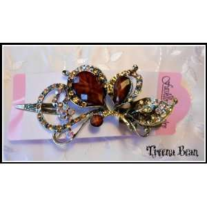 Treena Bean Vintage Fashion Jeweled Caramel Rhinestone Hair