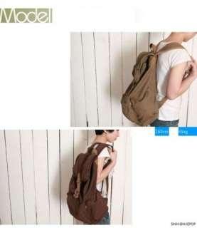 Canvas Rucksack Backpack Retro Bag School Travel Duffle