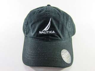 nautica baseball golf ball classic sport casual black hat cap cap17