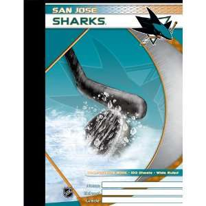 San Jose Sharks NHL Composition Book  Sports & Outdoors