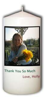 Personalized Custom Thank You Candle Photo Gift
