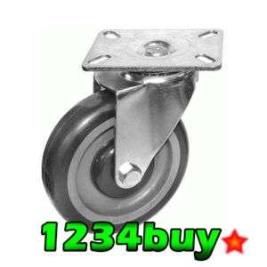 Plate Caster Heavy Duty PU Wheel KP6012