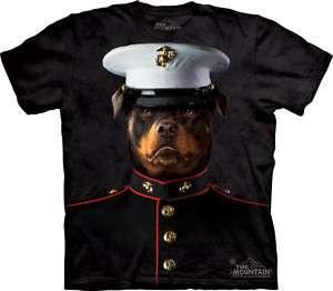 THE MOUNTAIN ROTTWEILER MARINE SOLDIER DOG PET SHIRT L
