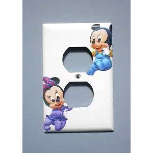 Disney BABY Mickey Minnie Mouse OUTLET Switch Plate