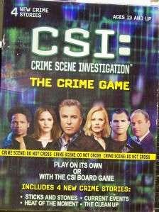 CSI CRIME SCENE INVESTIGATION THE CRIME GAME