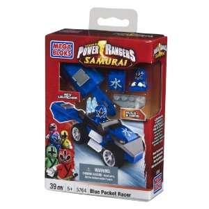 Mega Bloks Power Rangers Blue Pocket Racer Toys & Games