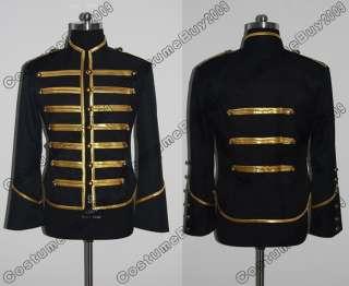 My Chemical Romance Military Parade Jacket Black & Gold