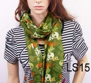 New fashion Crossbones Skull girl scarf womens scarves shawl wrap