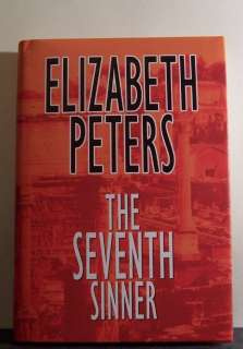 THE SEVENTH SINNER by Elizabeth Peters LARGE PRINT book 9781585471881