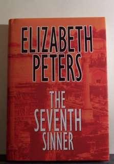 THE SEVENTH SINNER by Elizabeth Peters LARGE PRINT book 9781585471881