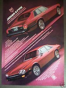 1977 Jaguar S Type XJ S Classic red vintage car ad