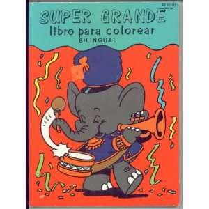 SUPER GRANDE libro para colorear BILINGUAL (Coloring Book