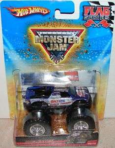 Hot Wheels MONSTER JAM SHOCK THERAPY #60 Truck Flag