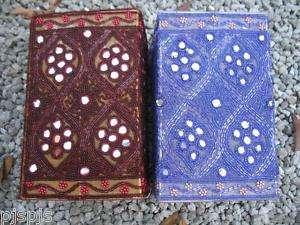 PAIR STUNNING BEADED MIRROR SHISHA LAMP SHADES INDIA 2
