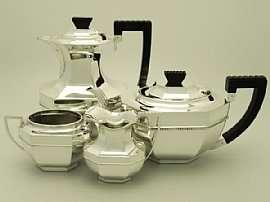 Art Deco Four Piece Tea & Coffee Service   Vintage George VI