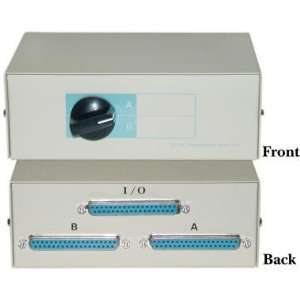 DB37 Female, 2 Way AB Switch Box Electronics