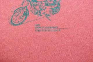 VTG HARLEY DAVIDSON MACHINES JELLY BEANS SHIRT 1982 L