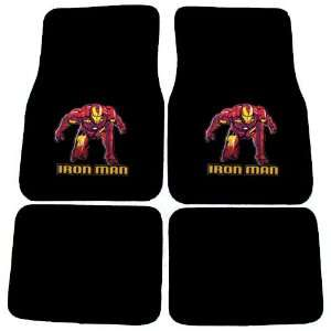 Iron Man Marvel Comics Logo Front & Rear Seat Car Truck SUV Carpet