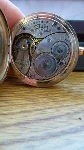Vintage/Antique gold filled ELGIN pocket watch   RARE PIECE   marked