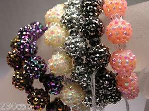 Pave Crystal Ball Beaded Stretch Bracelet    tons of sparkle
