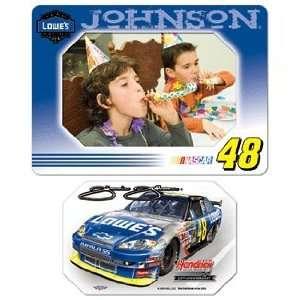 NASCAR Jimmie Johnson Magnet   Die Cut Horizontal Sports