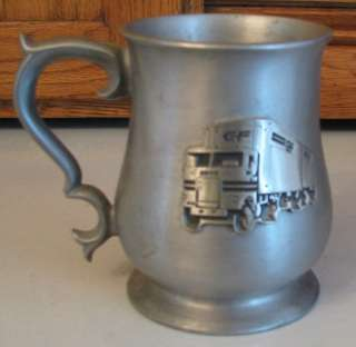 Pewter BEER MUG C F Big Rig Consolidated Freight Tractor Trailer TRUCK